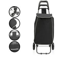 Einkaufstrolley  mit abnehmbarer Tasche incl. austauschbarer Reifen, schwarz