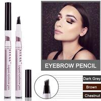 Microblading Tattoo Eyebrow Ink Pen Fork Tip Waterproof Eye Brow Makeup Pencil