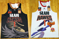 European Lamelo Ball #1 Slam Hawks Basketball Jerseys Top Print white black