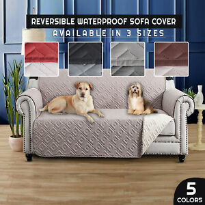 Quilted Sofa Cover Anti Slip Waterproof Sofa Cover Pet Protector Furniture Throw