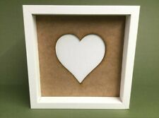 Ikea ribba box frames 23cms MDF mount with cutout Heart, gift,frame not included