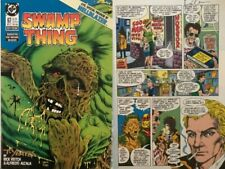 Swamp Thing 67 Signed 2X Rick Veitch Yeates 1st Hellblazer John Constantine NM