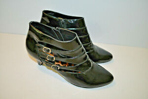 Diana Ferrari 'Brea' ~ Women's ~ Black ~ Patent Leather ~ Booties ~ Sexy Sz 8.5