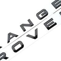 1x3D Gloss Black Logo Letters Hood Trunk Tailgate Emblem Sticker For Range Rover