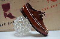 TRUMANS Schnürschuhe TRUE Vintage Halbschuhe Loafer handmade geflochtenes Leder