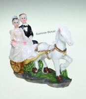 12 CARRIAGE WEDDING PARTY FAVORS TABLE DECOR RESIN CAKE TOPPER HORSE BODA NOVIOS