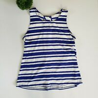 Skies Are Blue Womens Size Large Blue White Striped Tank Top Casual Stitch Fix