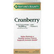 Nature's Bounty Cranberry Concentrate with Vitamin C for urinary tract immune 60