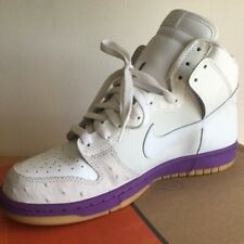 NIKE Dunk High DELUXE White Ostrich