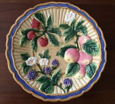 Fitz And Floyd, Pretty Decorative Wall Plate, Colorful Raised Fruit/Flower Motif
