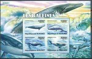 BURUNDI 2011 MNH Imperf SS, Whales, Fish, Marine Life
