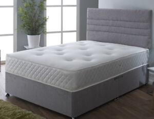 "Luxury 10"" Tufted Memory Foam Mattress Sprung Single, Double Mattress, King Size"