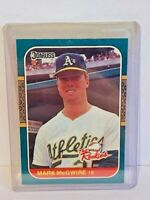 1987 Leaf Donruss The Rookies Mark McGwire Oakland A's MLB Baseball Card #1