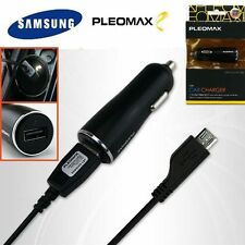 2A GENUINE SAMSUNG DUAL CAR USB CHARGER CABLE 5Pin GALAXY S7 Edge 6 5 Note 5 4 3