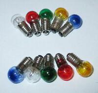 Lampes de Rechange de Couleur E5.5 - 19V - Couleur au Choix 10 Pièces Neuf