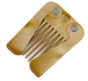 Wood Effect Plastic Folding Handle Afro Hair Comb Coiffure Teasing Styling Comb