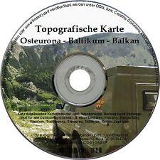 Topo Karte OSTEUROPA GARMIN DVD Montenegro Serbien KOSOVO BALKAN Hrvatska BIH