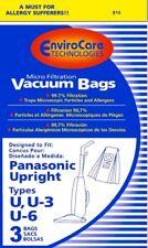 3PK, PANASONIC U-3 U-6 UPT-MICRO, PAPER BAGS 816