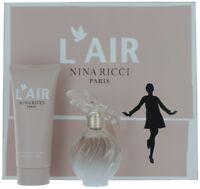 L'AIR by Nina Ricci for Women SET: EDP Spray 1.7oz + Body Lotion 3.4oz NIB