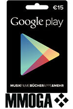 15€ Google Play Store Card Geschenkkarten - 15 Euro Gutschein Key Guthaben Code