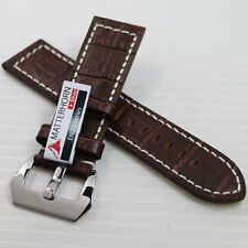 NEW ! ! 24MM MATTERHORN GENUINE LEATHER WATCH BAND/STRAP HIGH QUALITY FOR MEN