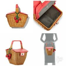 KATE SPADE PICNIC PERFECT 3D WICKER 🍓STRAWBERRY 🍓 BASKET BAG PURSE HANDBAG NWT