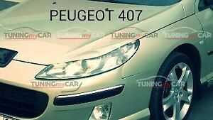 Eyebrows Eyelid Cover for headlights for Peugeot 407 2005-
