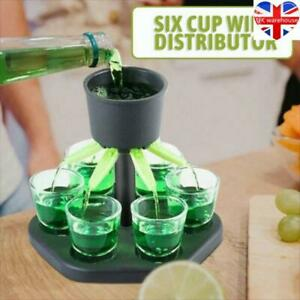 6 Shot Glass Dispenser Holder Wine Whisky Beer Dispenser Rack Bar Accessories