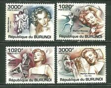 BURUNDI 956-59 MNH MARILYN MONROE SCV 15.00