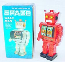 "China Me-100 Space Walk Man 12"" Robot Tin Toy Figure #Red Batt. Op. Mib`80 Rare"