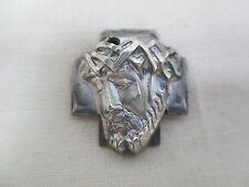 Vintage Handcrafted Sterling Silver Jesus Weeping w/ Crown of Thorns Pendant