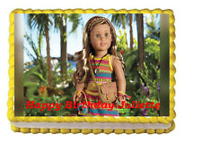 American Girl Doll Edible Cake Topper 1/4 sheet Personalized
