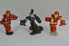 Marvel Super Hero Squad IRON MAN Lot of 3 Mini Figure Cake Toppers War Machine