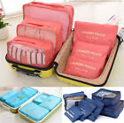 6 Pcs Waterproof Clothes Storage Bags Packing Cube Travel Luggage Organizer T