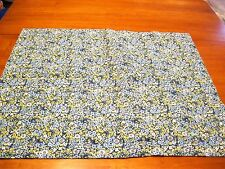 Blue Yellow Floral Tailored Standard Pillow Sham