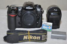 Nikon D200 10.2 Mp Digital Slr Camera - Black, Body+16Gb Card and Accessories!