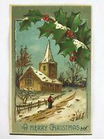 Antique German Christmas Postcard Postmarked 1907