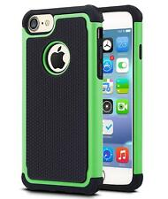 Shockproof Hard Silicone Case Cover Hybrid Heavy Duty for Apple iPhone 7 4s 5 6 iPhone 5 5s Green