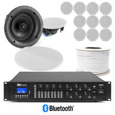 More details for in ceiling speakers, 6 zone matrix background music system 100v, 12 x 6.5