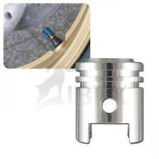Piaggio MP3 Hybrid 125/300  Ventilkappenset Kolben silber Ventilkappen