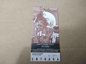 MACHINE HEAD JUEVES 27 NOVIEMBRE - ENTRADA TICKET