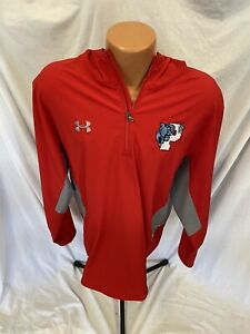Men's Red Under Armour Men's Squad Woven 1/4 Zip Pullover Jacket Sz XL