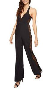 Ann Summers Elsie Jumpsuit Size 14 In Black 68593 RRP £50