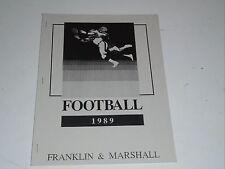1989 FRANKLIN & MARSHALL (PA) COLLEGE FOOTBALL MEDIA GUIDE BOX 28
