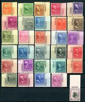USAstamps Unused VF US Presidential Plate # Selection Scott 803-832 OG MNH