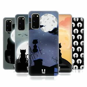 HEAD CASE DESIGNS CAT AND MOON SOFT GEL CASE FOR SAMSUNG PHONES 1