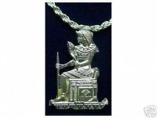 LOOK 1069 Isis Goddess Egyptian Throne Charm Pendant Jewelry
