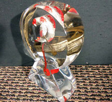 "Glen Tarnowski ""Just Keep Swimming"" Hand Signed Lucite sculpture Make and Offer!"