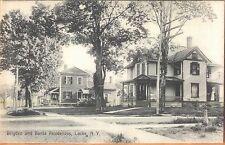 c1910 Brigden and Banta Residences Locke New York postcard view