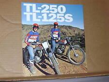1976 Honda TL250 TL125S Motorcycle Sales Brochure - Literature